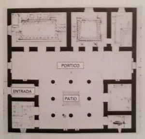 Impluvium de una casa romana para lograr una autosuficiencia hídrica