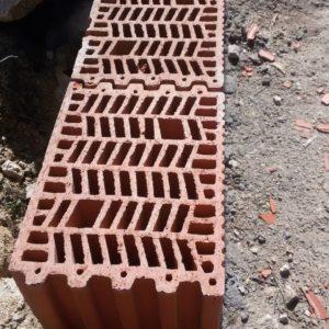 Muro de fábrica de bloques de termoarcilla