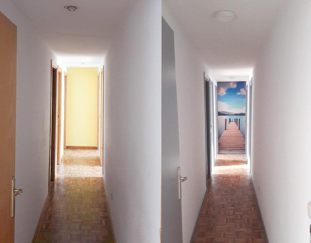 Cómo decorar un pasillo largo
